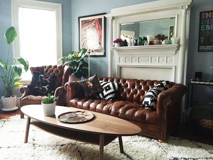 Best 25 Brown Leather Furniture Ideas On Pinterest Brown House good for Chesterfield Sofa and Chairs (Image 6 of 20)