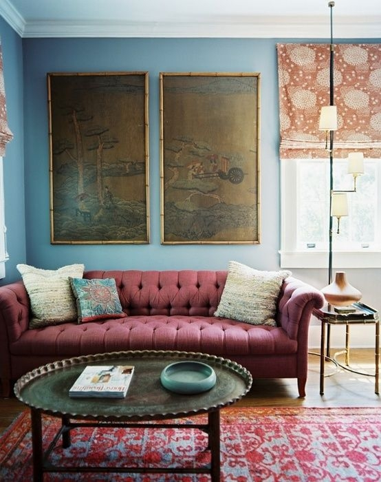Best 25 Burgundy Couch Ideas On Pinterest Navy Walls Navy Blue clearly pertaining to Colorful Sofas And Chairs (Image 7 of 20)