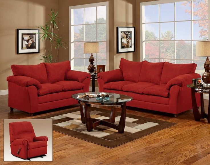 Best 25 Couch And Loveseat Ideas On Pinterest Round Swivel clearly with Red Sofas and Chairs (Image 4 of 20)