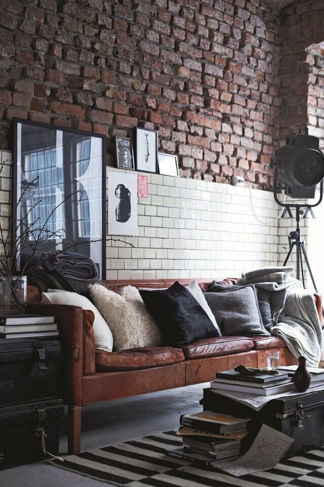 Best 25 Distressed Leather Sofa Ideas On Pinterest Distressed Most Certainly Within Brick Sofas (View 19 of 20)