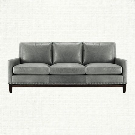 Best 25 Grey Leather Couch Ideas Only On Pinterest Leather perfectly regarding Grey Sofa Chairs (Image 9 of 20)