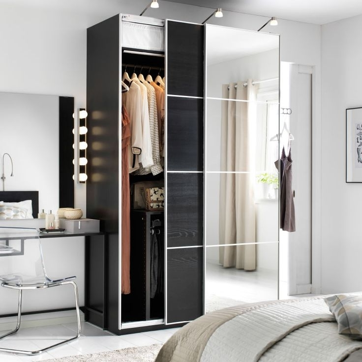 Best 25 Ikea Wardrobes Sliding Doors Ideas Only On Pinterest certainly intended for Dark Wood Wardrobes Ikea (Image 2 of 30)