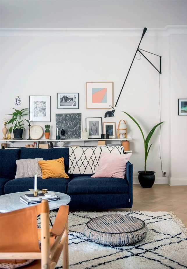 Best 25 Navy Blue Sofa Ideas On Pinterest Navy Blue Couches Perfectly Within Dark Blue Sofas (View 11 of 20)