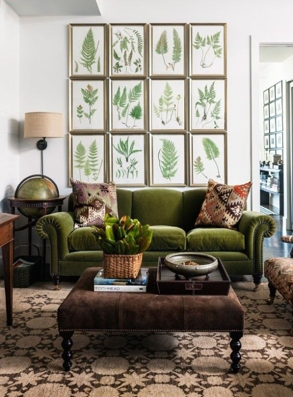 Best 25 Olive Green Couches Ideas On Pinterest Dark Blue Walls clearly inside Green Sofa Chairs (Image 7 of 20)