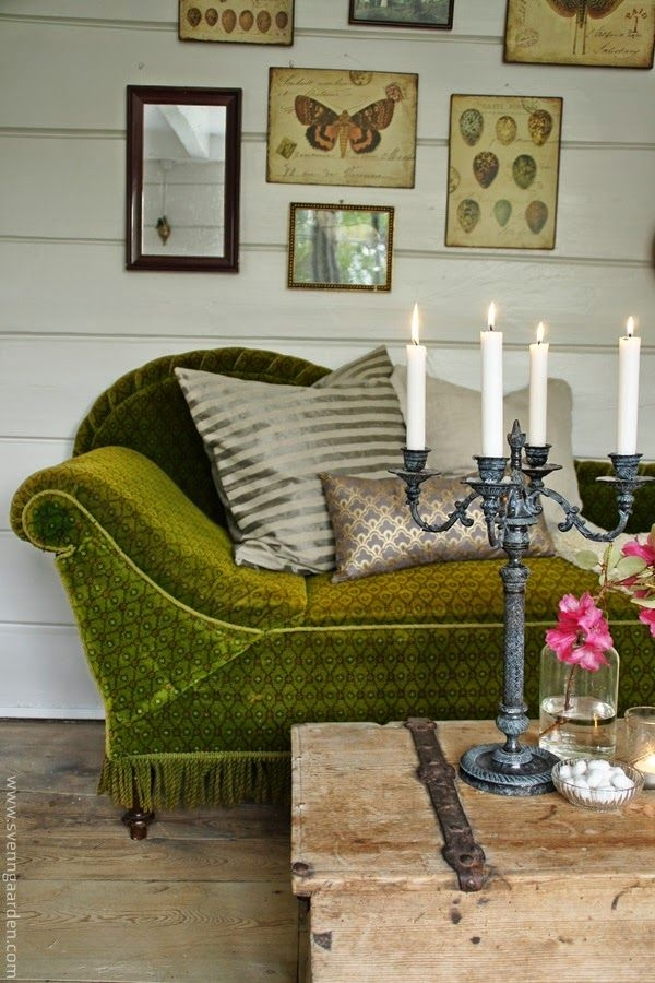 Best 25 Olive Green Couches Ideas On Pinterest Dark Blue Walls properly inside Green Sofa Chairs (Image 8 of 20)