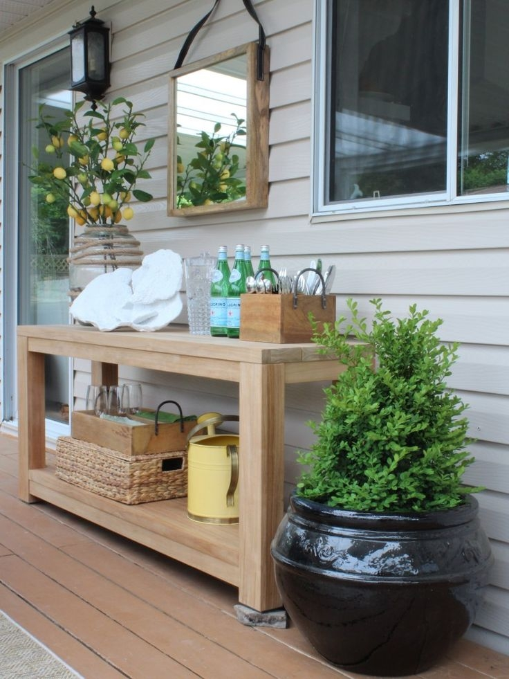 Best 25 Outdoor Console Table Ideas Only On Pinterest Diy Sofa perfectly pertaining to Patio Sofa Tables (Image 9 of 20)