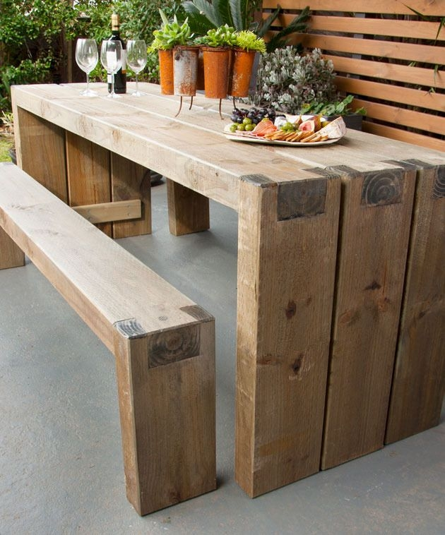 Best 25 Outdoor Tables Ideas On Pinterest Farm Style Dining certainly intended for Patio Sofa Tables (Image 11 of 20)