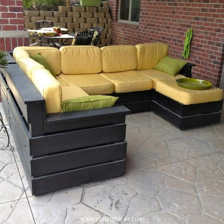 Best 25 Pallet Deck Furniture Ideas On Pinterest Sectional nicely within Outdoor Sofa Chairs (Image 5 of 20)