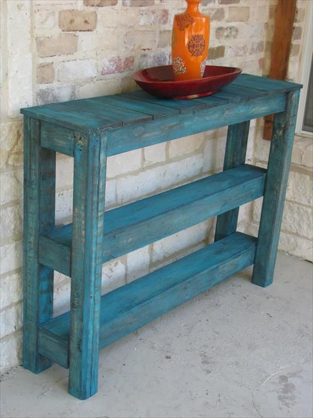 Best 25 Pallet Table Outdoor Ideas On Pinterest Diy Pallet good within Patio Sofa Tables (Image 12 of 20)