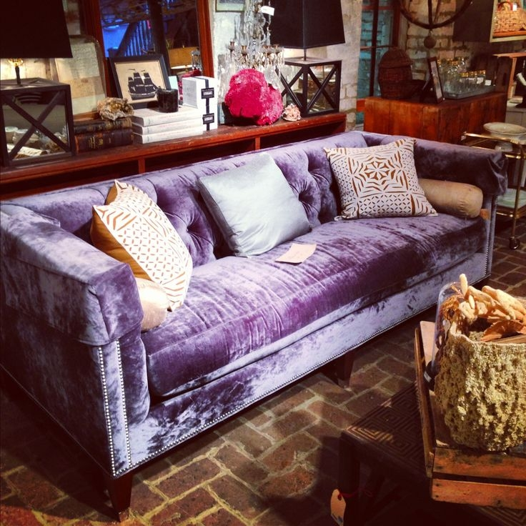 Best 25 Purple Sofa Ideas On Pinterest Purple Sofa Inspiration effectively regarding Velvet Purple Sofas (Image 4 of 20)