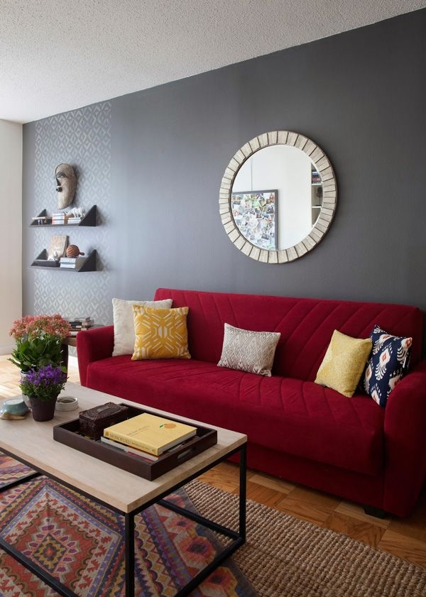 Best 25 Red Couch Rooms Ideas On Pinterest Red Couch Living properly throughout Colorful Sofas And Chairs (Image 12 of 20)