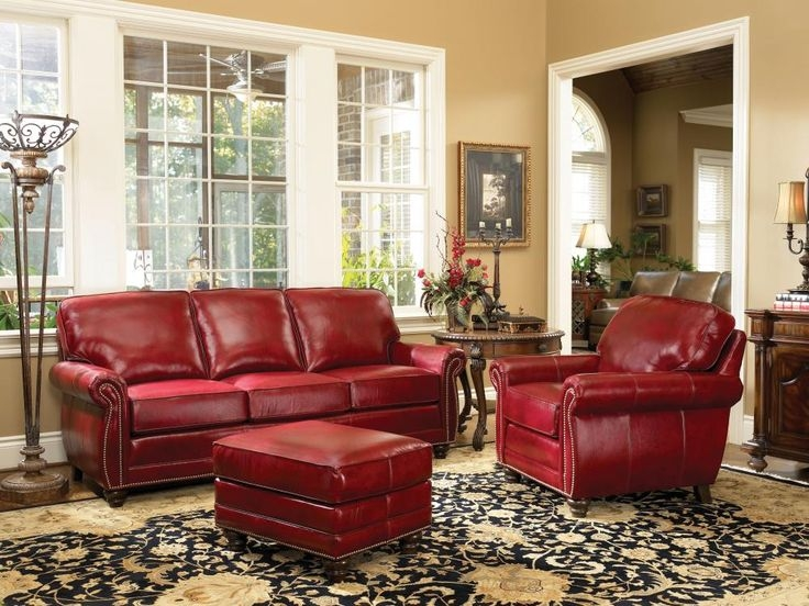 Best 25 Red Leather Sofas Ideas On Pinterest Red Leather good inside Red Sofas and Chairs (Image 8 of 20)
