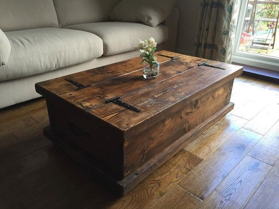 Best 25 Rustic Coffee Tables Ideas On Pinterest House Furniture properly throughout Dark Wood Chest Coffee Tables (Image 5 of 20)