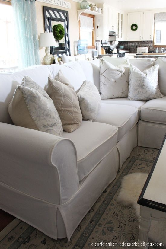 Best 25 Sectional Couch Cover Ideas On Pinterest Diy Living Certainly Throughout Slipcover For Leather Sectional Sofas (View 4 of 20)
