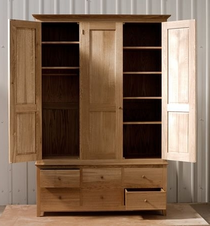 Best 25 Solid Oak Wardrobe Ideas On Pinterest Handmade Drawers good regarding Oak Wardrobe With Drawers And Shelves (Image 2 of 30)