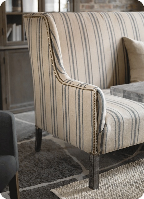 Best 25 Striped Sofa Ideas On Pinterest Striped Couch Blue Well Intended For Country Sofas And Chairs (View 5 of 20)