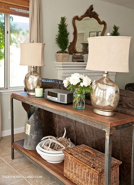 Best 25 Table Behind Couch Ideas On Pinterest Behind Sofa Table most certainly within Sofa Table With Chairs (Image 5 of 20)