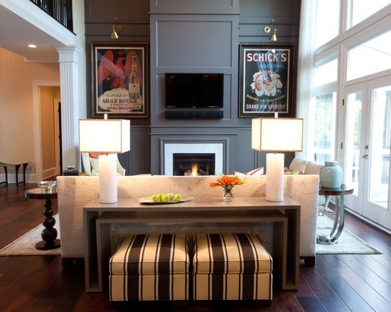 Popular Photo of Sofa Table With Chairs