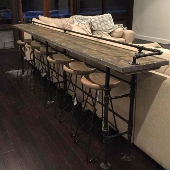 Best 25 Table Behind Couch Ideas On Pinterest Behind Sofa Table Properly With Regard To Sofa Table With Chairs (View 8 of 20)