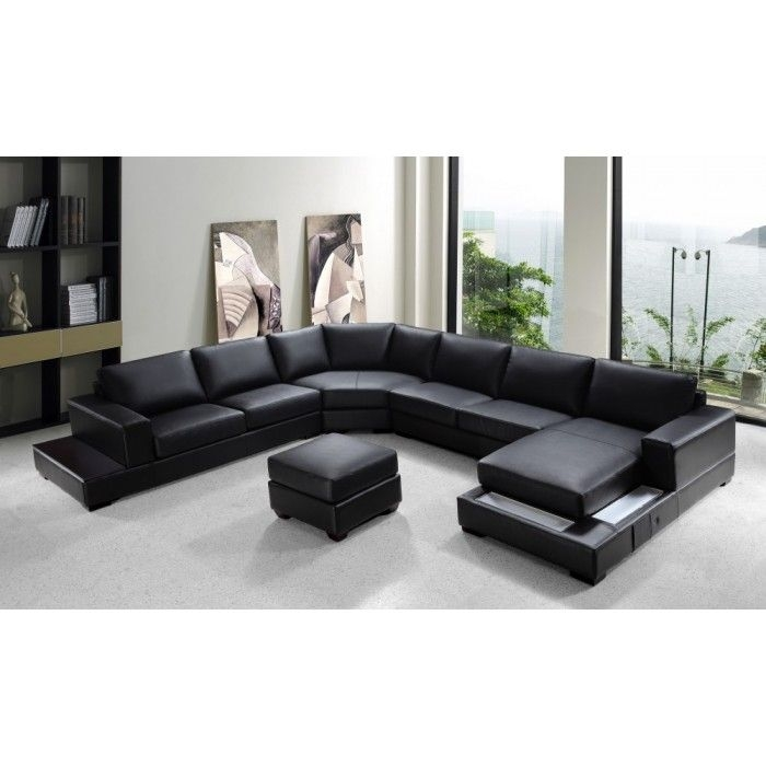 Best 25 U Shaped Sectional Sofa Ideas On Pinterest U Shaped clearly in Contemporary Black Leather Sectional Sofa Left Side Chaise (Image 8 of 20)
