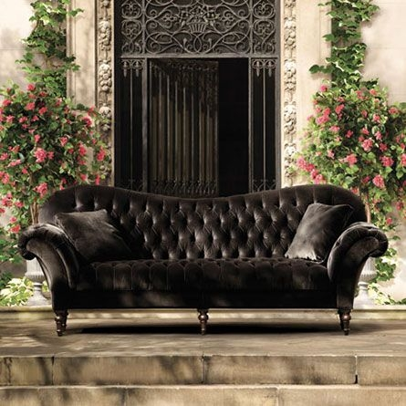 Best 25 Velvet Tufted Sofa Ideas On Pinterest Velvet nicely throughout Black Velvet Sofas (Image 3 of 20)