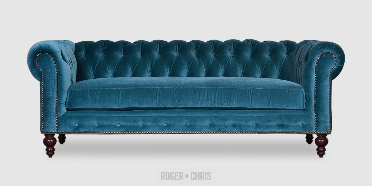 Best Blue Velvet Sofas Blog Roger Chris good with Blue Sofa Chairs (Image 8 of 20)
