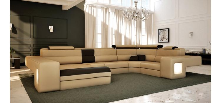 Best Large Leather Sectional Sofas 12 Astounding Large Leather certainly inside Very Large Sofas (Image 8 of 20)