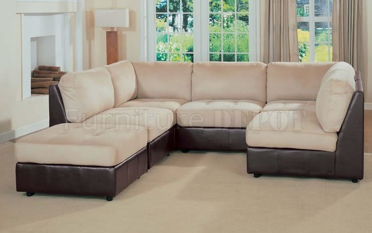 Best Two Tone Leather Sofa 2106 Modern Two Tone Leather Sofa very well inside Two Tone Sofas (Image 3 of 20)