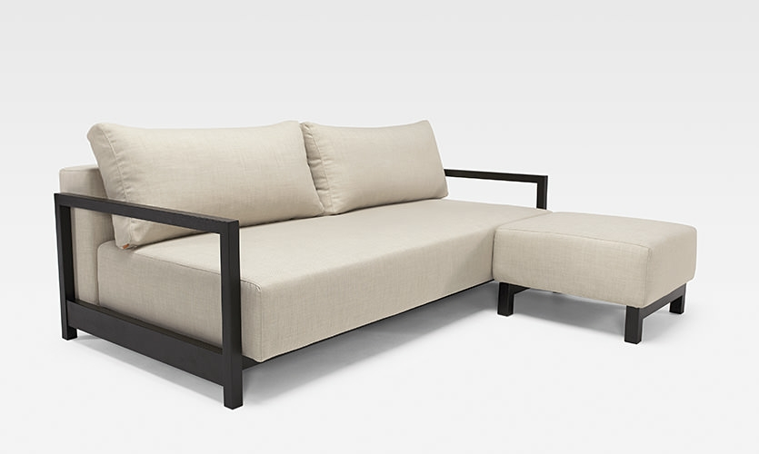 Bifrost Sleek Excess Lounger Sofa Bed Sand Innovation effectively pertaining to Sofa Lounger Beds (Image 8 of 20)