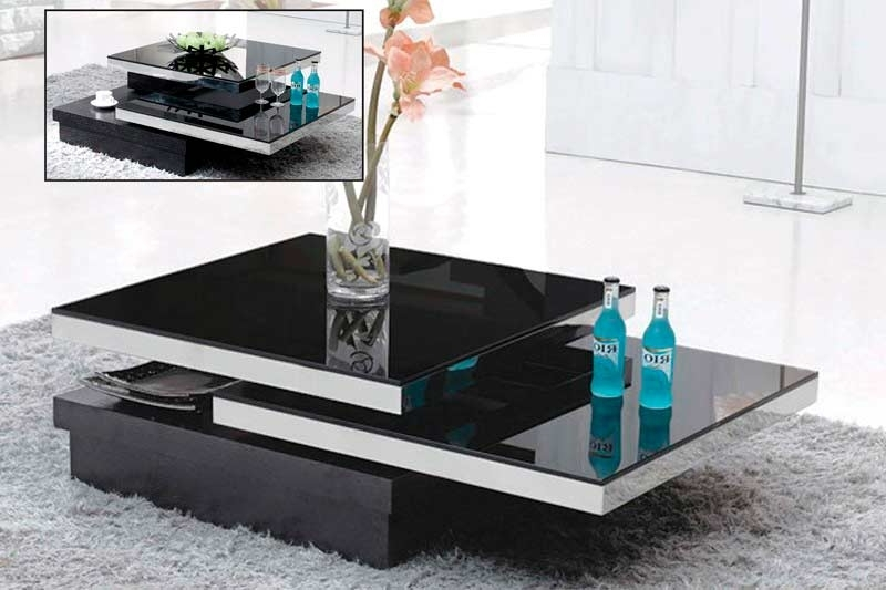 Black Glass Coffee Table Vg 139 Contemporary most certainly inside Unique Black Glass Coffee Table (Image 7 of 30)