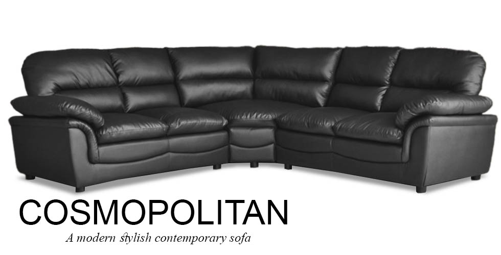 Black Leather Corner Sofa most certainly for Corner Sofa Leather (Image 1 of 20)
