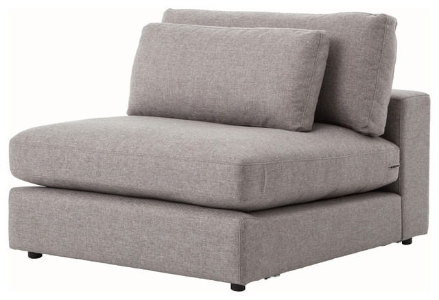 Bloor Sectional Sofa Piece Armless Contemporary Armchairs And clearly inside Armless Sectional Sofas (Image 9 of 20)