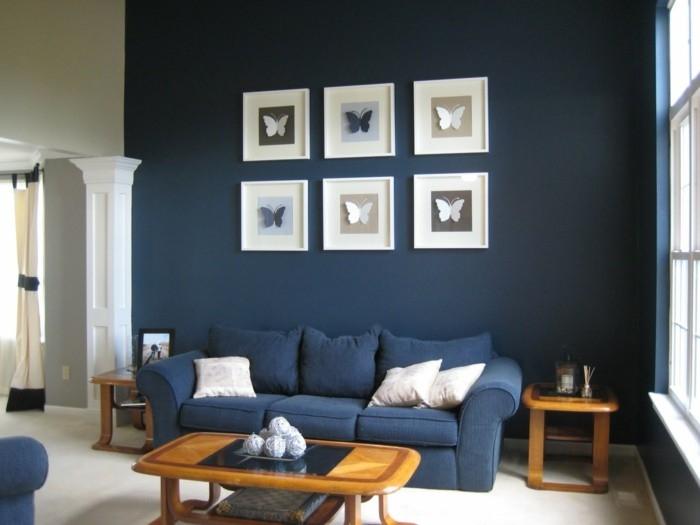 Blue Sofa 50 Interior Design Ideas With Sofa In Blue That Are Good Regarding Dark Blue Sofas (View 12 of 20)