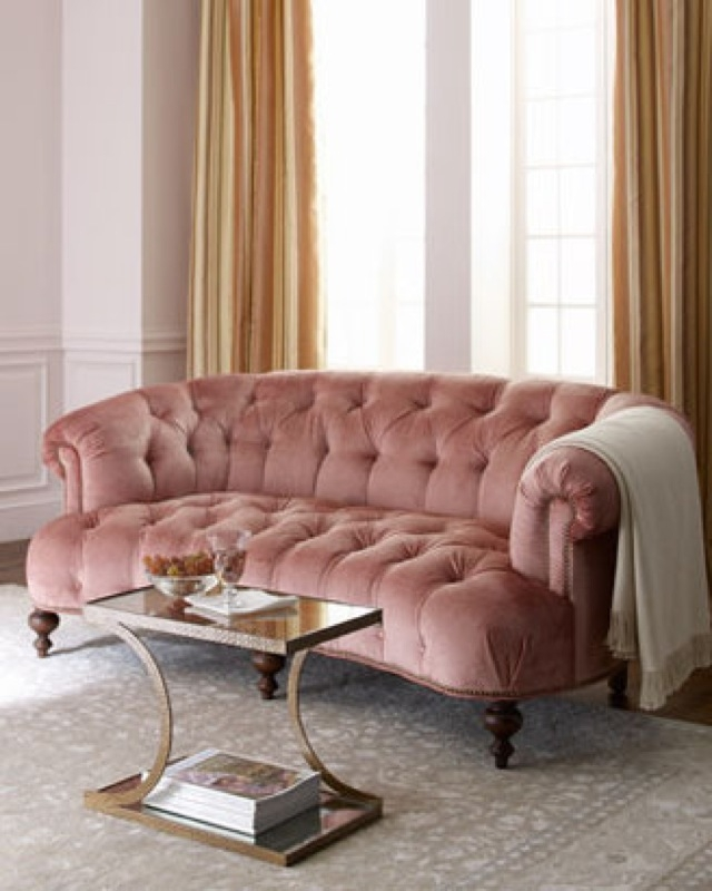 Blush Perfection Softromantic And Comfortable Couch Via The Old very well inside Affordable Tufted Sofa (Image 9 of 20)
