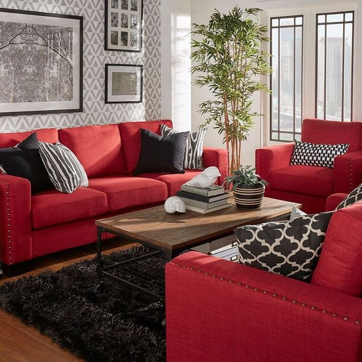 Bold Red Couches What A Statement Redcouch Statementcolor certainly with Red Sofas And Chairs (Image 11 of 20)