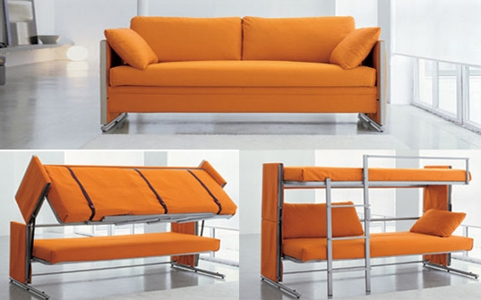 Bonbons Brilliant Doc Sofa Transforms Into A Bunk Bed In A Snap definitely regarding Sofa Convertibles (Image 3 of 20)