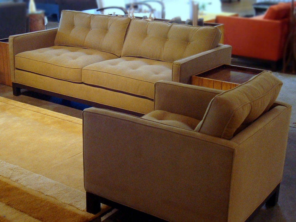 Bradington Truffle Sofa Loveseat And Accent Chair Set Sofas With effectively for Sofa And Chair Set (Image 6 of 20)