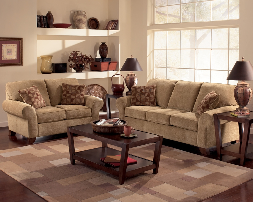 Bradington Truffle Sofa Loveseat And Accent Chair Set Sofas With good within Sofa And Chair Set (Image 7 of 20)
