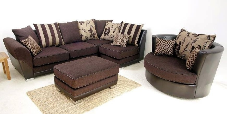 Brand New Modern Vermont Corner Swivel Cuddle Chair Sofa Set perfectly regarding Corner Sofa And Swivel Chairs (Image 4 of 20)