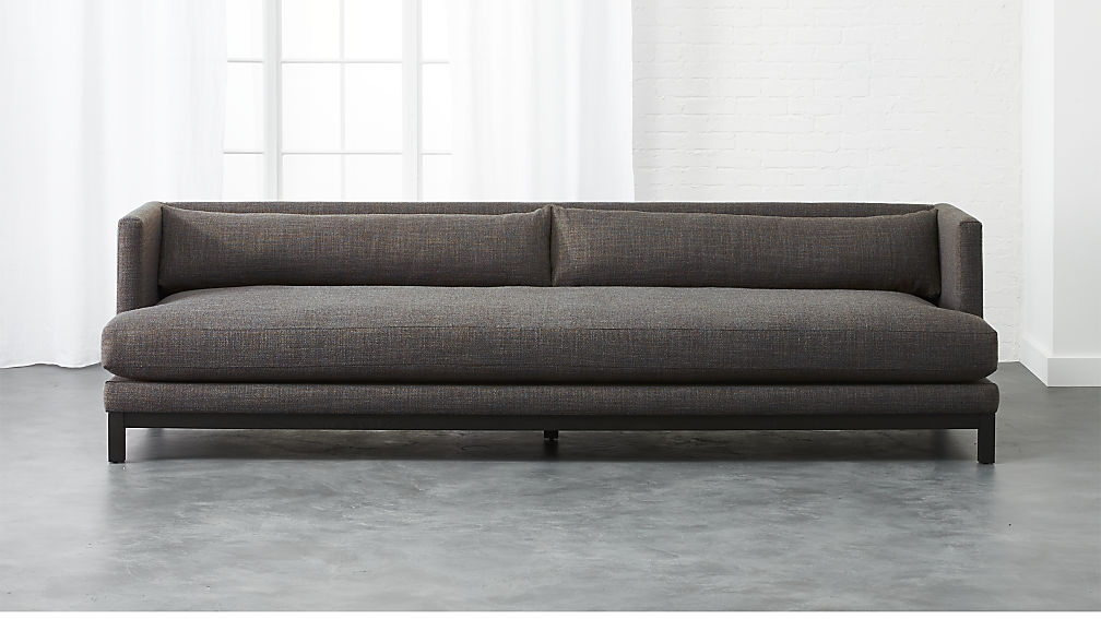 Brava Sofa Woven Textural Poly Long Sofa Living Rooms And Room perfectly throughout Long Modern Sofas (Image 9 of 20)