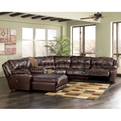 Braxton Java 6 Piece Modular Sectional Signature Design effectively for Braxton Sectional Sofa (Image 2 of 20)