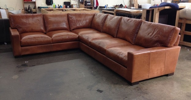 Braxton Leather L Sectional Sofa Studio Depth Glove Chestnut definitely with Braxton Sectional Sofa (Image 5 of 20)