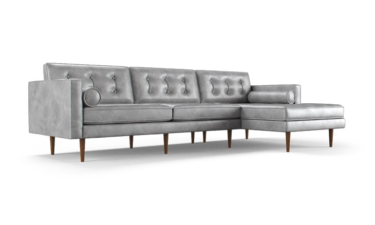 Braxton Leather Sectional Joybird effectively throughout Braxton Sectional Sofa (Image 6 of 20)