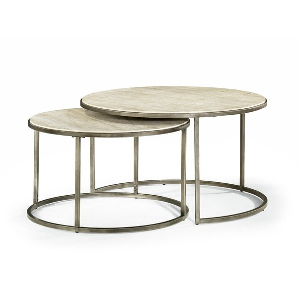 Brayden Studio Masuda Nesting Coffee Table Reviews Wayfair properly with Coffee Tables With Nesting Stools (Image 3 of 20)