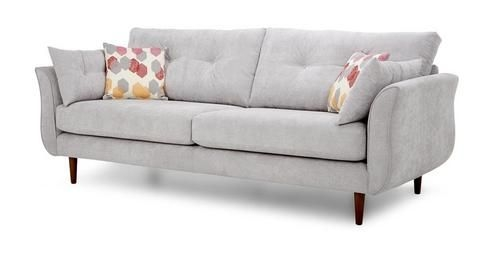 Bree 4 Seater Sofa Bree Plain Pattern Dfs Ireland Couch Properly Inside 4 Seater Sofas (View 10 of 20)
