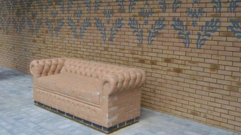 Brick Sofas Built In Bicester Town Centre Bbc News properly inside Brick Sofas (Image 4 of 20)