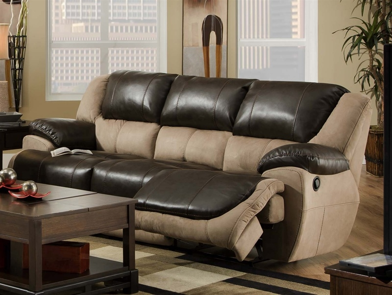 Brighton Reclining Sofa In Two Tone Upholstery Catnapper 4051 definitely throughout Two Tone Sofas (Image 4 of 20)
