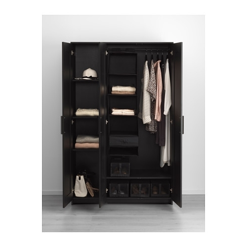 Brimnes Wardrobe With 3 Doors White Ikea nicely intended for 3 Door Wardrobe With Drawers And Shelves (Image 23 of 30)