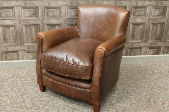 Brown Leather Chair perfectly with Vintage Leather Armchairs (Image 7 of 20)