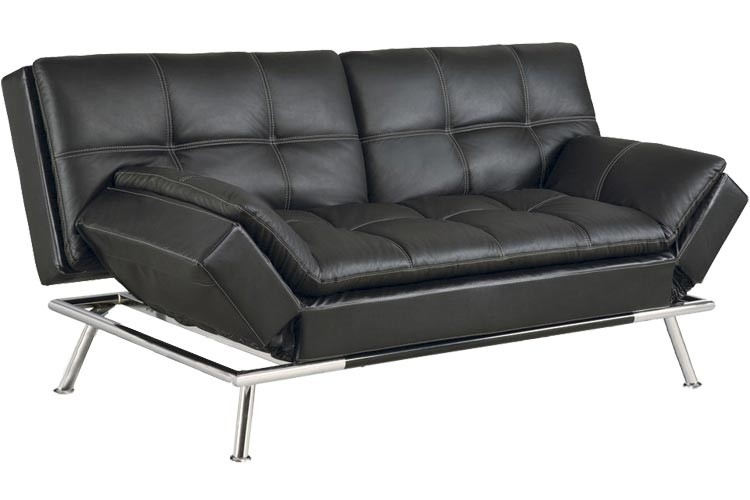 Brown Leather Convertible Sofa Bed Kingsley Serta Sofa good intended for Fulton Sofa Beds (Image 2 of 20)